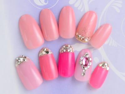 春にピッタリ!!ピンクネイルのイメージ