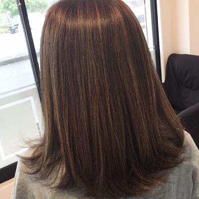 ヘナカラーぷち矯正のその後の髪の状態のイメージ