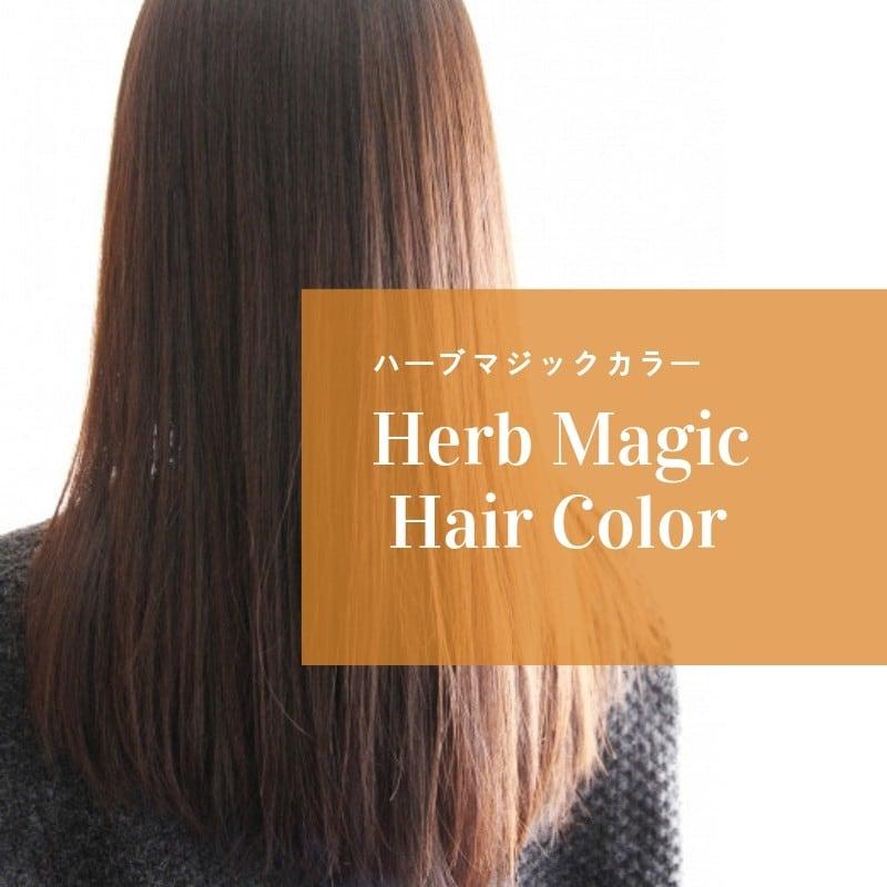 【ハーブマジックカラー】頭皮をいたわるカラー+ 頭皮プレトリートメントコース