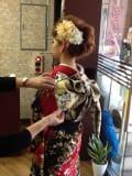 <朝8時予約>結婚式列席 振袖着付+ヘアセットのイメージ