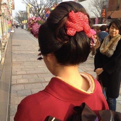 (4名以上)日本舞踊発表会 振袖着付+ヘア+メイクのイメージ