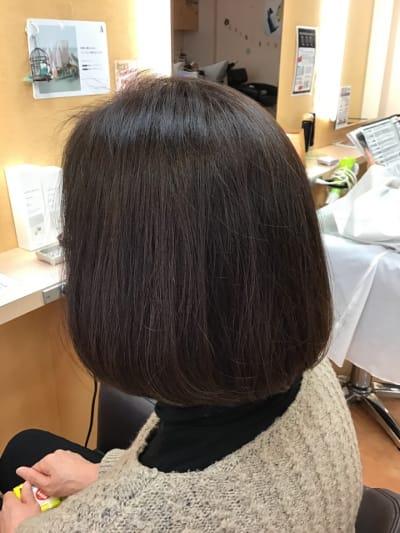 髪質向上トリートメント☆カット+全体カラー+Wトリートメント ¥9000のイメージ