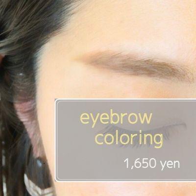 眉毛カラー(eyebrow color)のイメージ