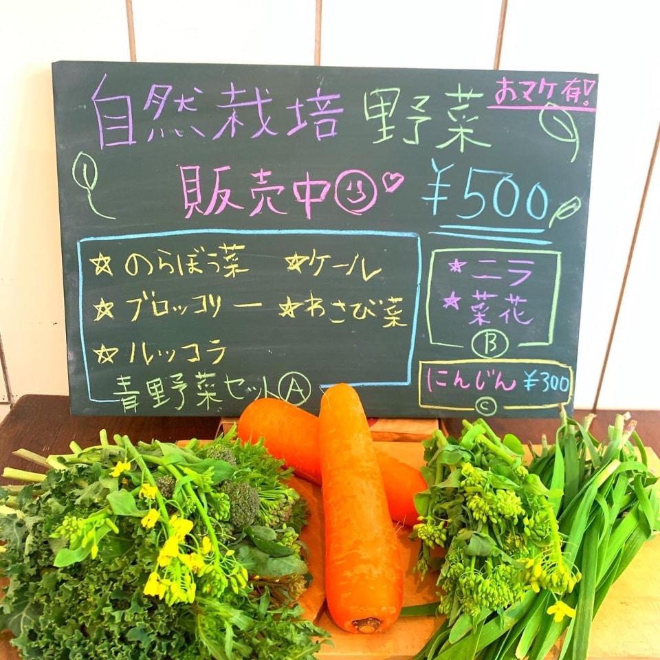 ひばりヶ丘のヴィーガンスイーツのカフェ・サロン「HALUM(ハル)」〜オーガニック・植物性原料のみ使用・合成食品添加物不使用〜 | 今日明日、自然栽培野菜を販売しております☆(18時までの営業とさせていただきます。)