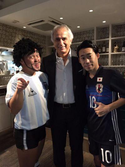 サッカー日本代表 ハリルホジッチ監督がいらっしゃいました☆