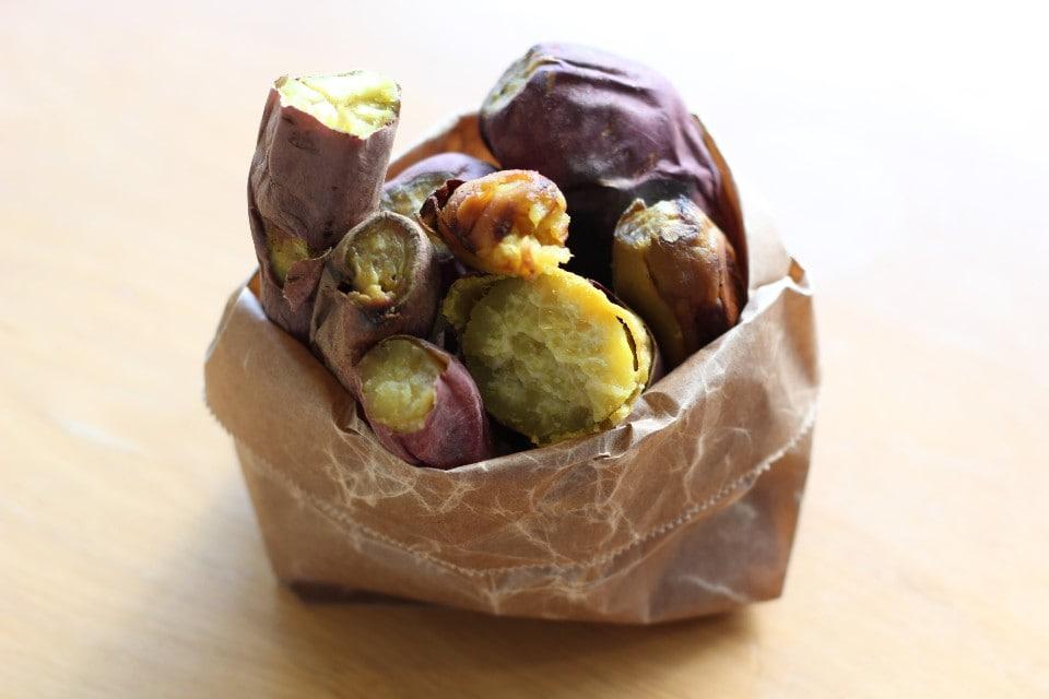 いも子のやきいも 阿佐美や   |無農薬の焼き芋|人力発電かき氷| | 貴重な無農薬の焼き芋を販売。1番人気は食べ比べセット