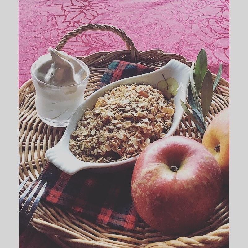 奈良天理/本格紅茶の英国カフェKURINOKI(くりのき) | 🔱季節のスイーツ『アップルクランブル』‼️🔱