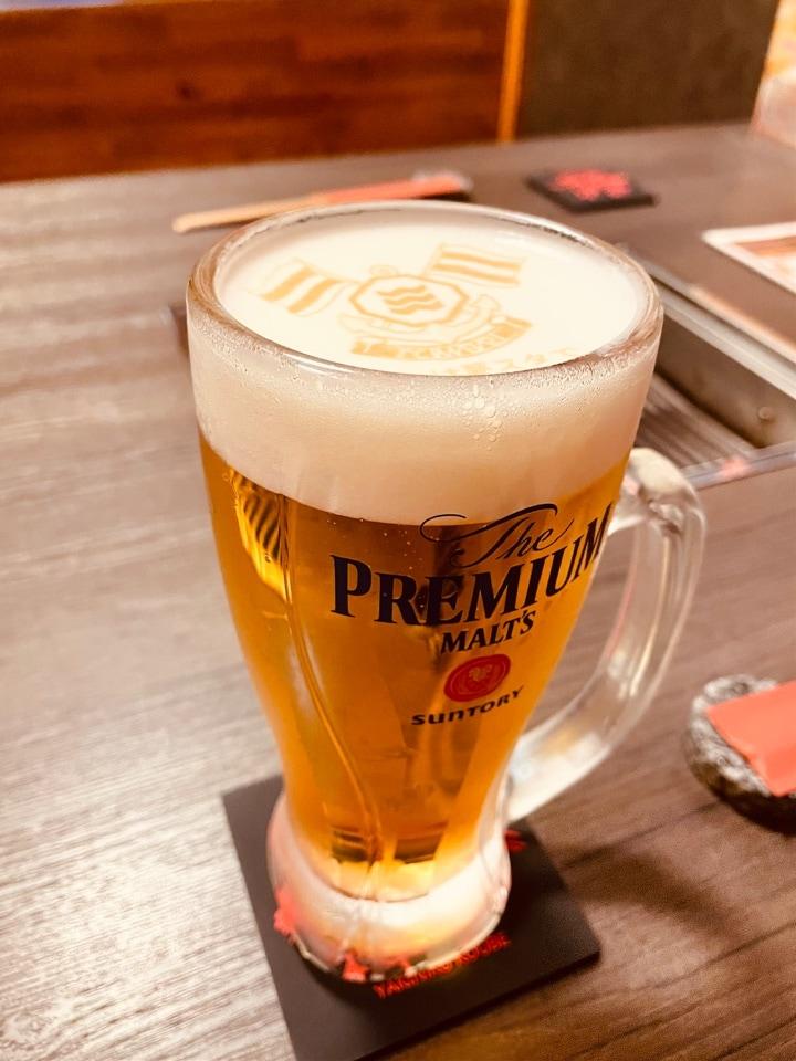 今治 やきにく神戸 | 神泡アートに‼︎‼︎