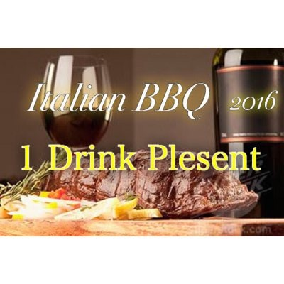 【9/22(祝木)】Italian × BBQ 2016 1ドリンクサービスクーポン