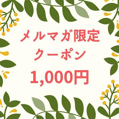 【4月メルマガ限定】1000円オフクーポン