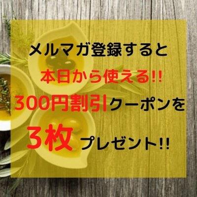 メルマガ登録すると!店頭で使える300円割引3枚プレゼント♪