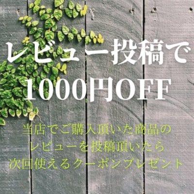 レビュー後1000円オフクーポン