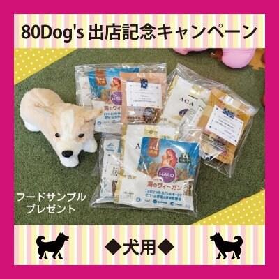 ◆犬用◆[ツクツク]80Dog's出店記念キャンペーン【新規登録者限定】フードのサンプル