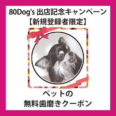 ◆犬用◆[ツクツク]80Dog's出店記念キャンペーン【新規登録者限定】ペットの無料歯磨き