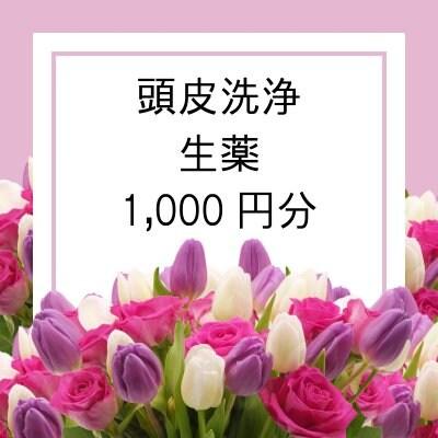 ■頭皮洗浄時に調合する生薬1,000円分!