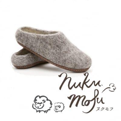 手作りフェルトのルームシューズとオールハンドメイドのバッグ【nukumofu(ヌクモフ)】
