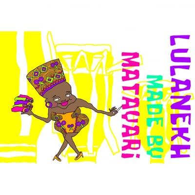 *アフリカ布の帽子lulanekh*                                     made by MATAYARi