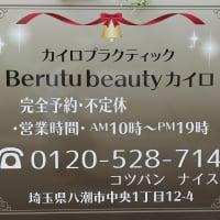 埼玉県八潮市 Berutu beauty カイロ 骨盤調整.小顔調整.たるみ.はり
