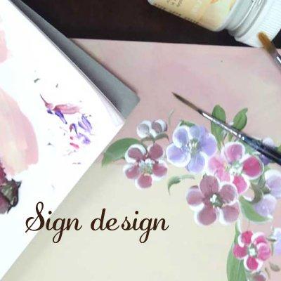 フラワーペイント/signdesign/サインデザイン