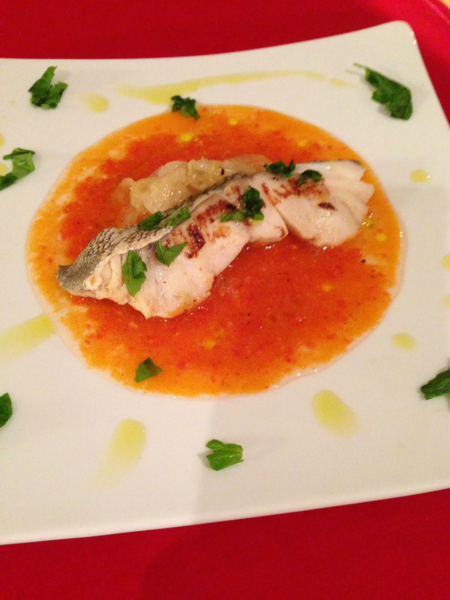 鱈のトマトソースマリネ