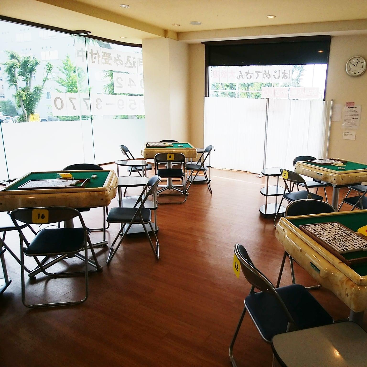 麻雀教室の麻雀卓