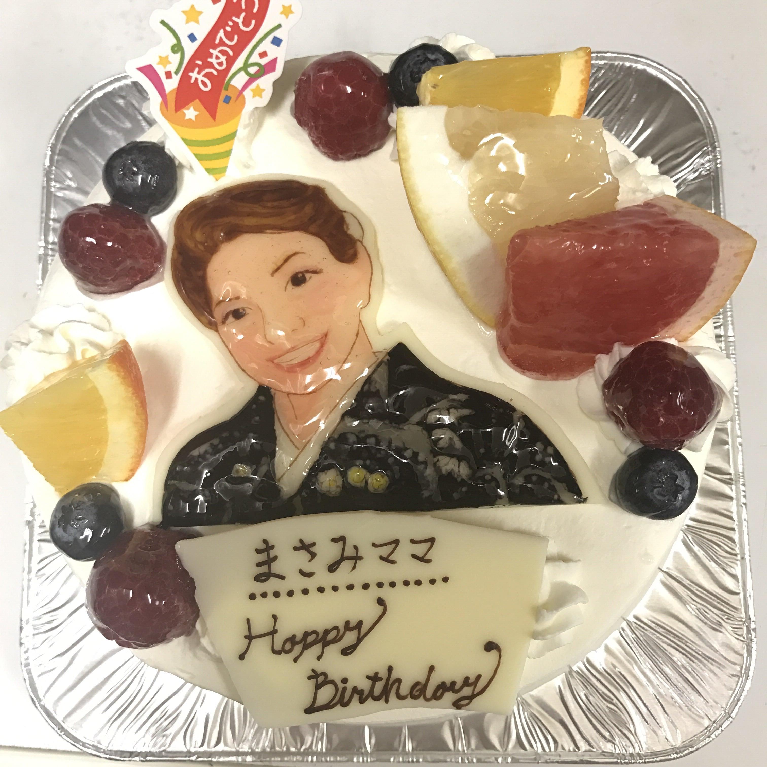 オーダーメイドのイラスト入りケーキ
