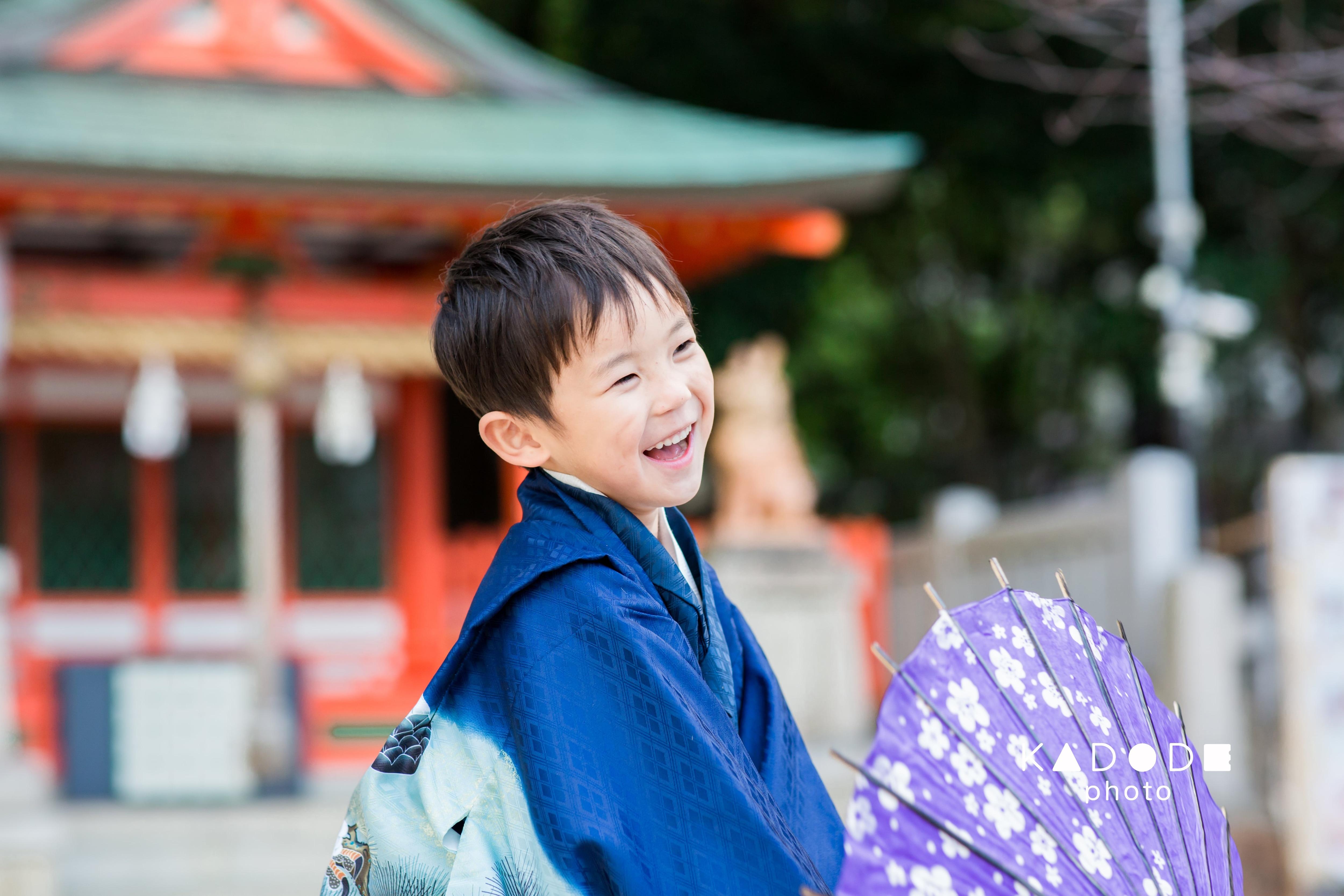 七五三ロケーション撮影(5歳男の子)