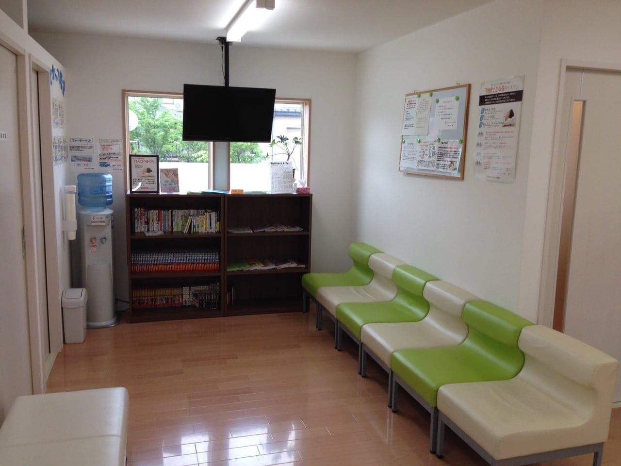 会津若松市接骨院【なかむらファミリー接骨院】の待合室です。