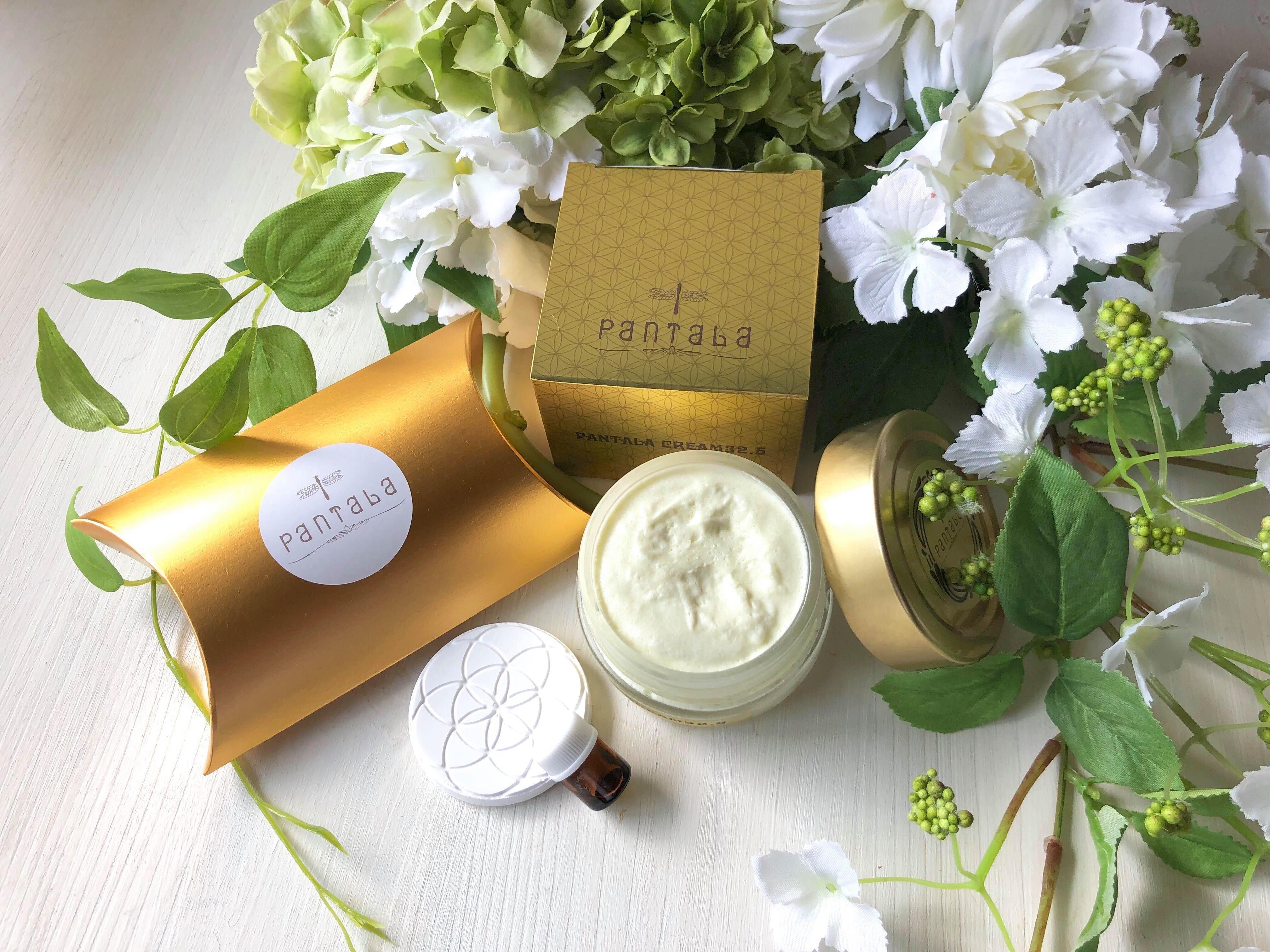 PANTALAクリームとお花のコラボ