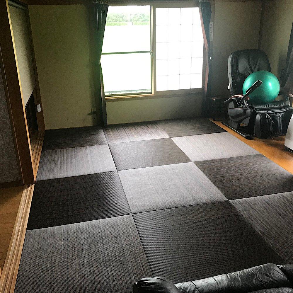 琉球畳、ヘリナシ畳。セキスイ美草アースカラー