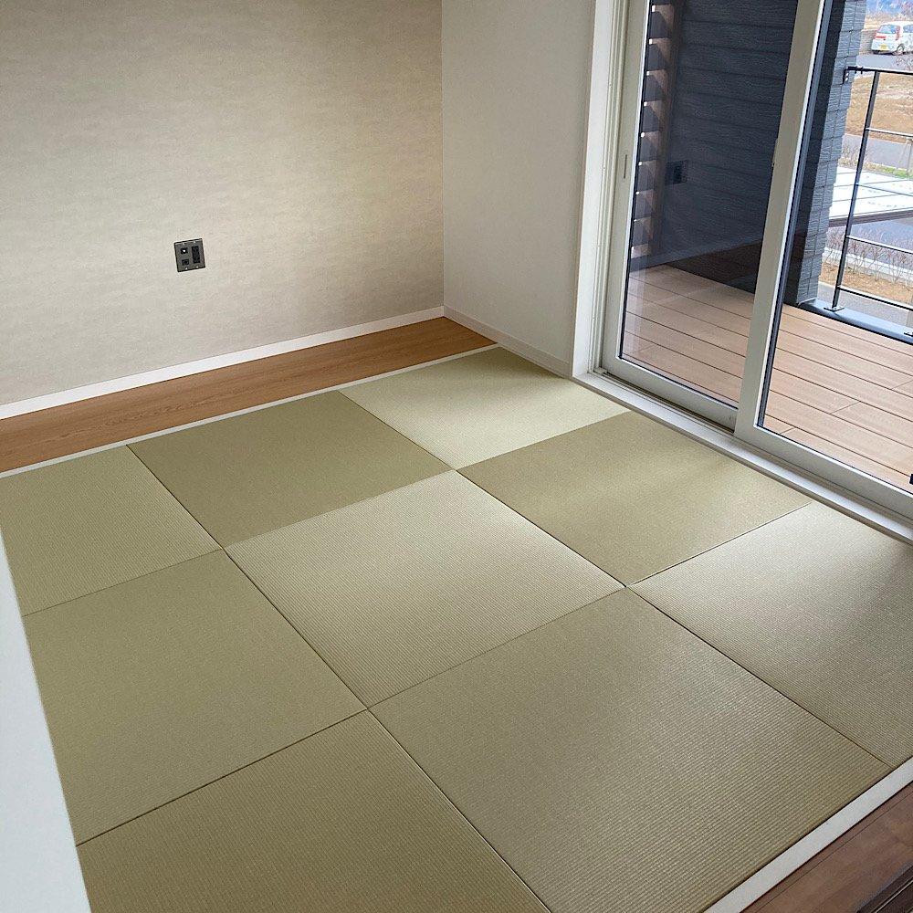 琉球畳、ヘリナシ畳。ダイケン清流カラー若草色