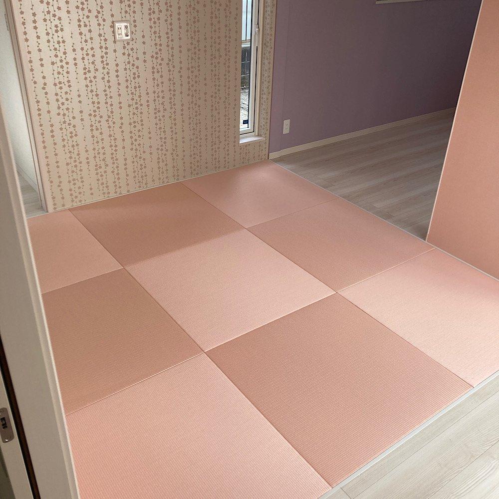 琉球畳、ヘリナシ畳。ダイケン清流カラー薄桜色