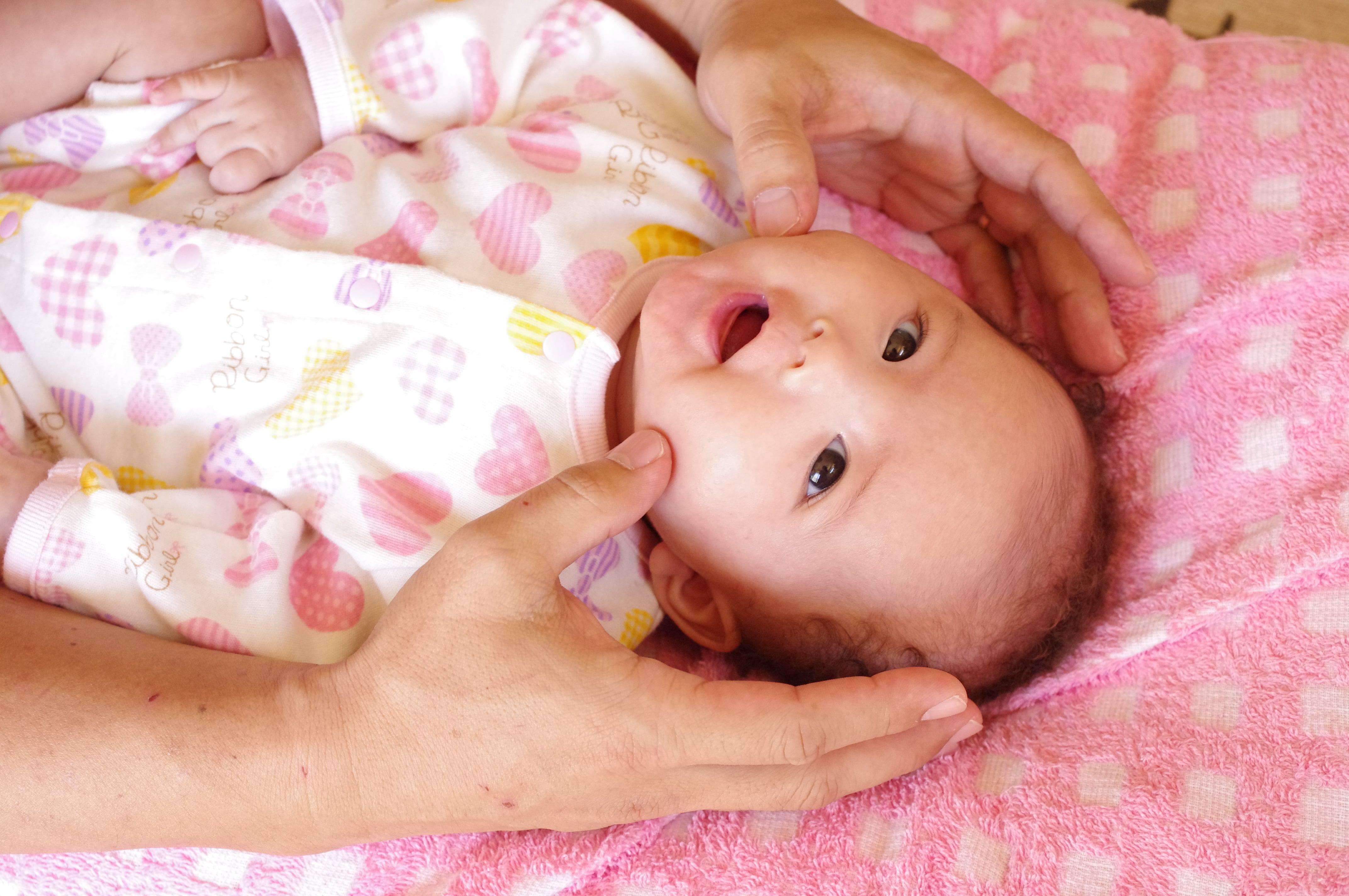 沖縄県北中城村安谷屋/骨格調整はーもにー/赤ちゃんの頭の形