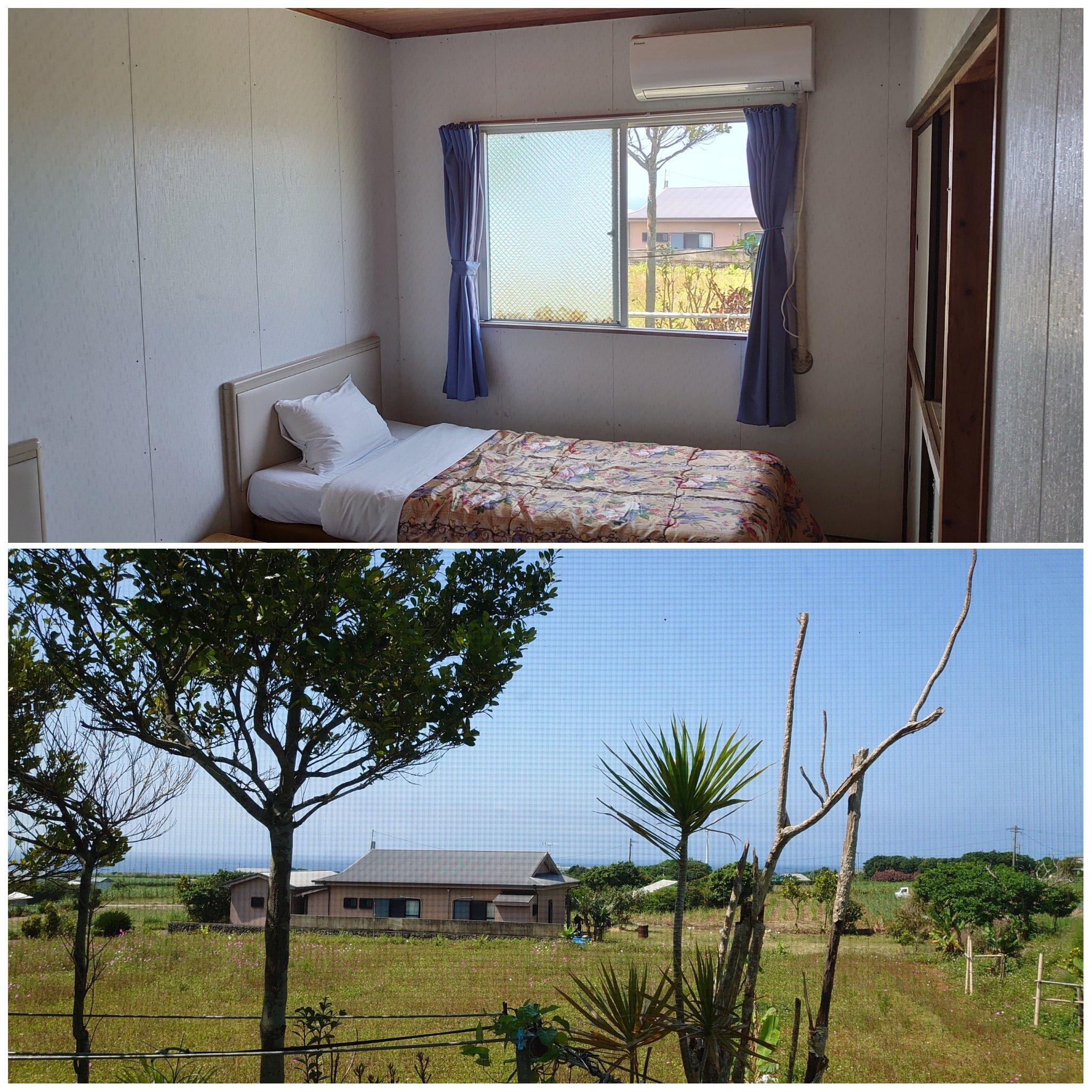 鹿児島県|与論島|星砂荘|民宿|宿泊|お部屋(ベッド)