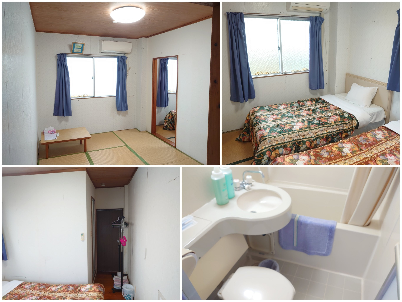 鹿児島県|与論島|星砂荘|民宿|宿泊|お部屋(ユニットバス付)