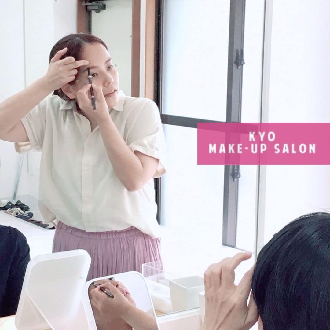 メイクレッスンの様子/KYO MAKE-UP SALON