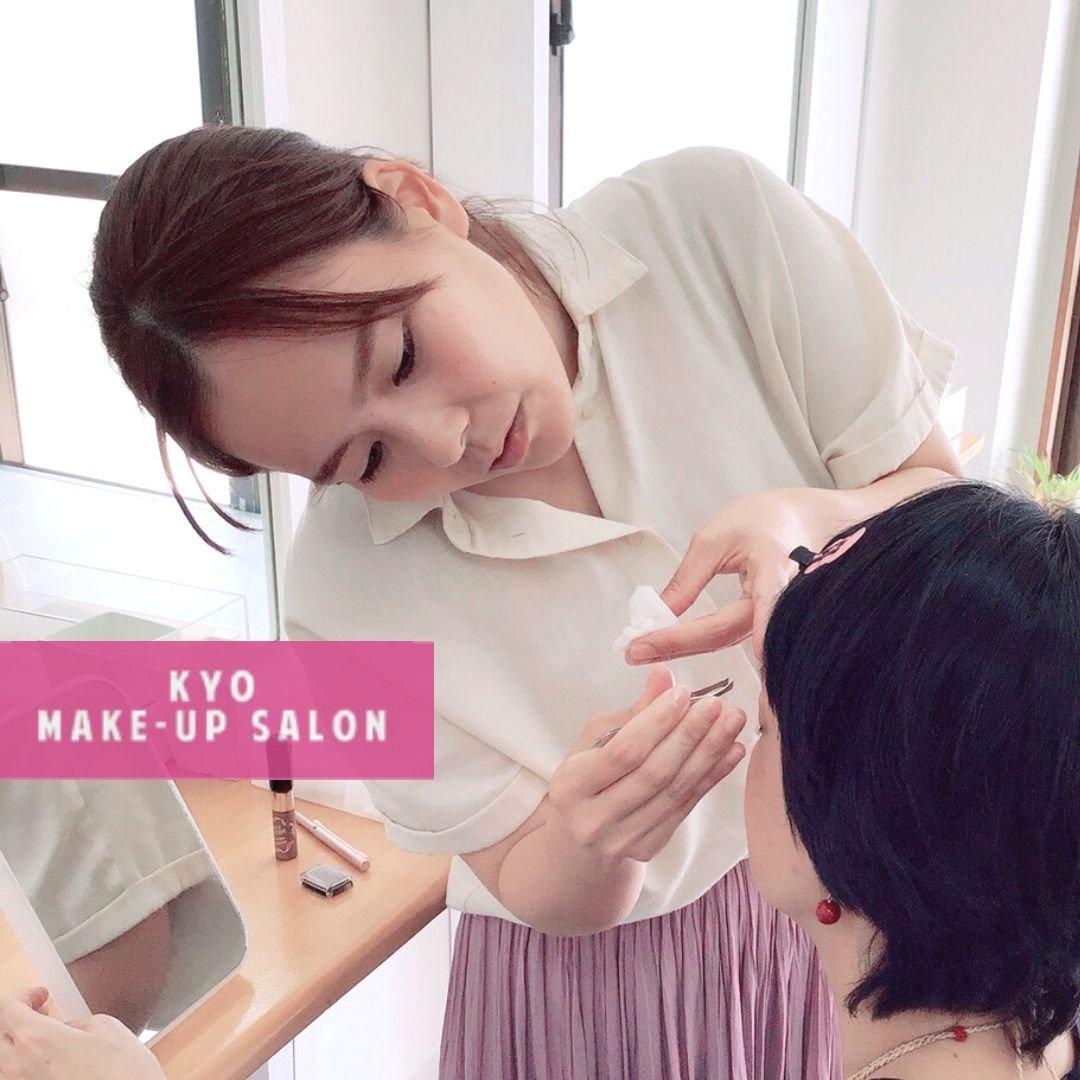 メイクレッスンの様子②/KYO MAKE-UP SALON