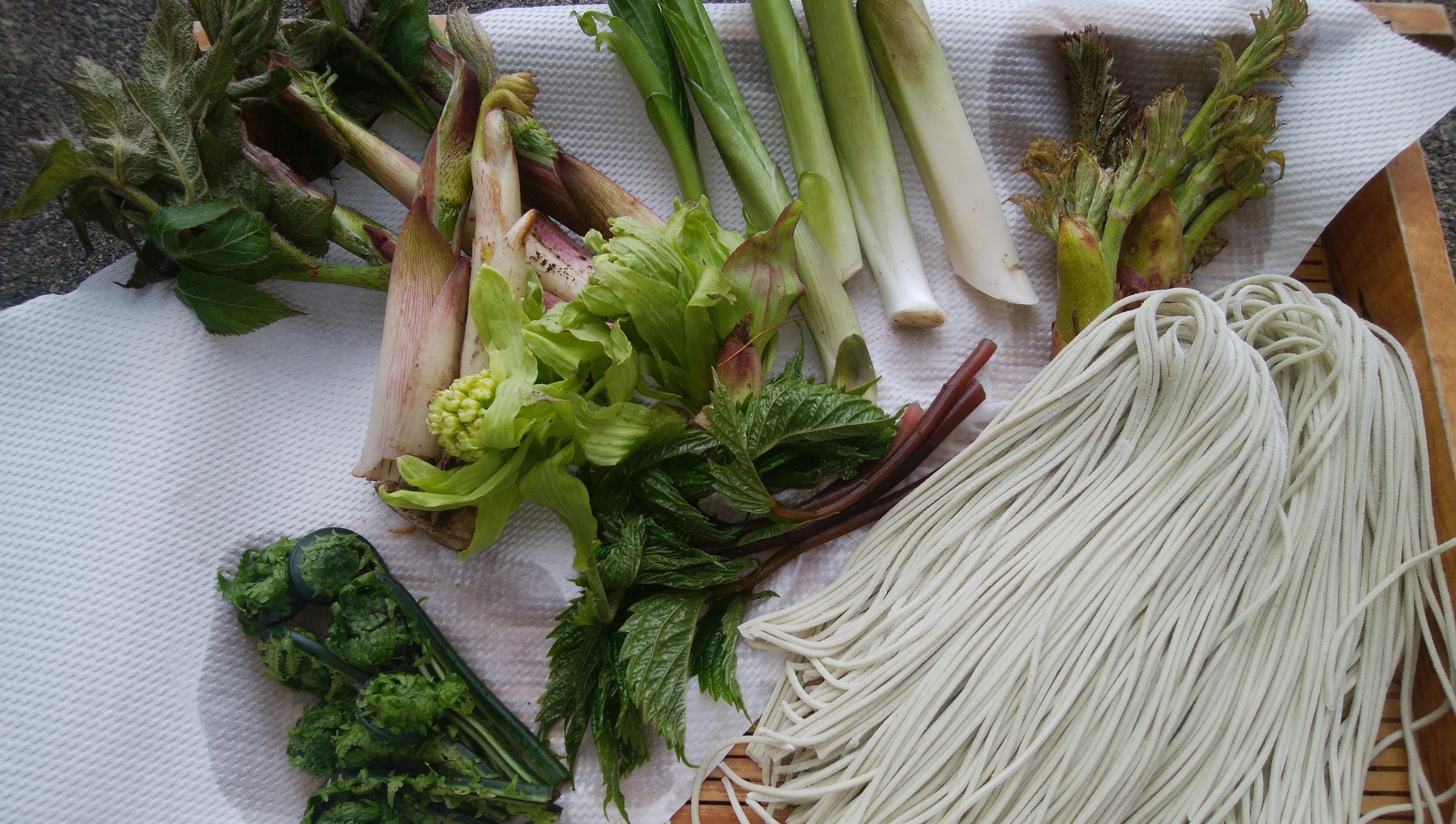 山菜とお蕎麦