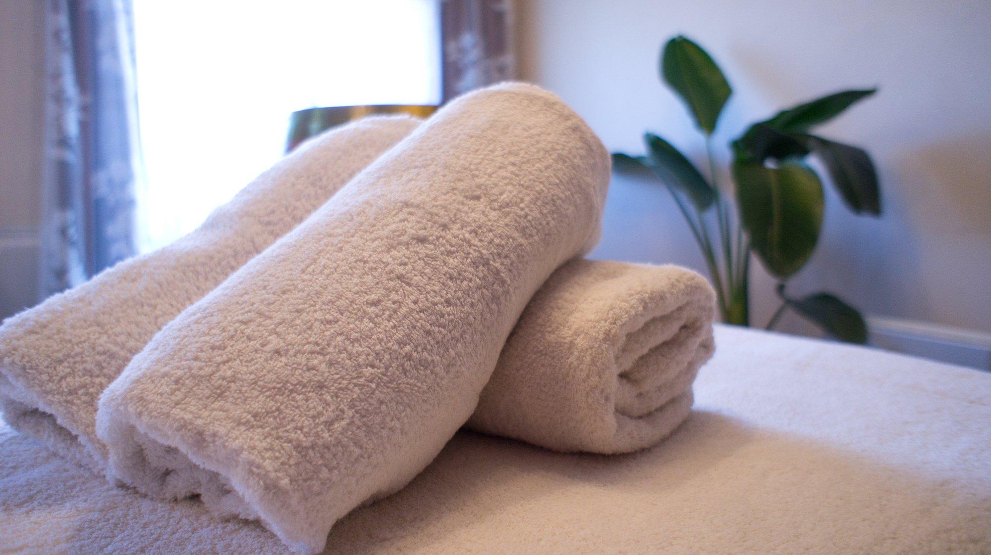 タオルの洗剤は自然素材のものを使っています。