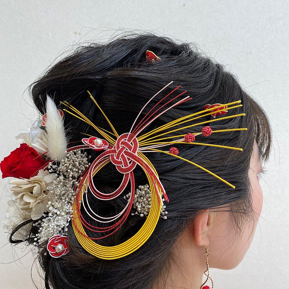 成人式の装い。髪飾り