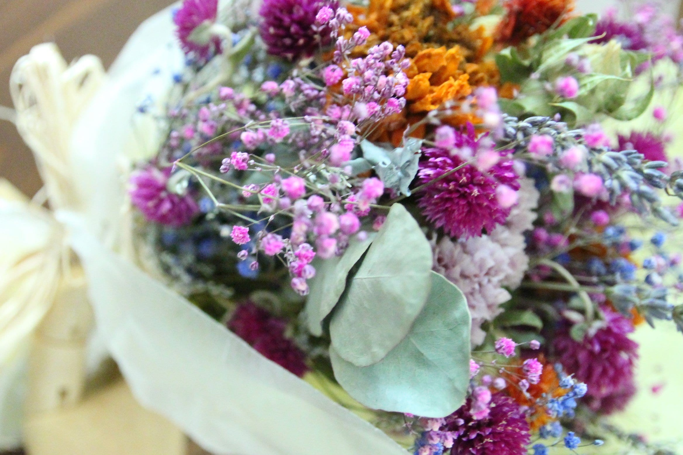 colorful driedflower bouquet
