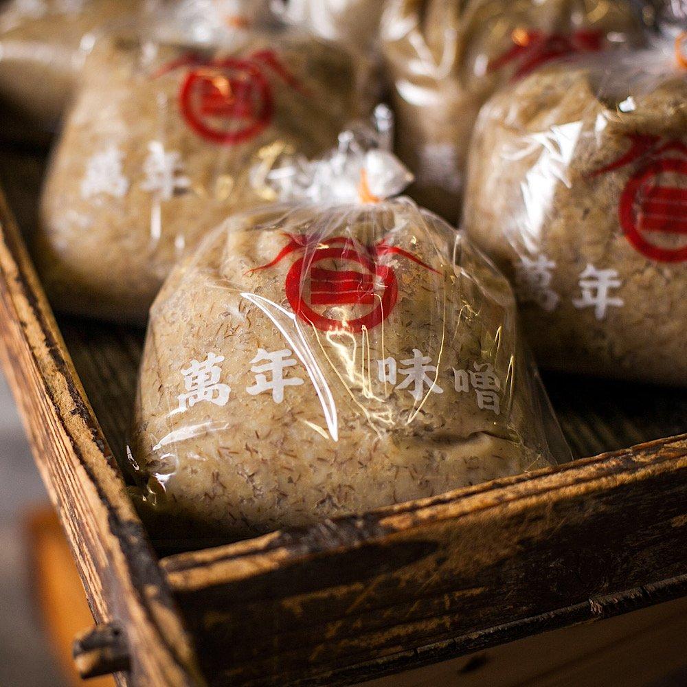 麦みそ 無添加麦味噌通販【伊豫醸造株式会社】萬年味噌