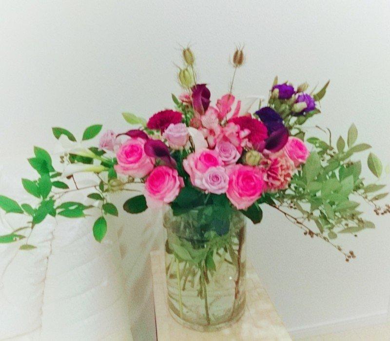 銀座エステサロンSylphya(シルフィア)週1でお花変えてます☆