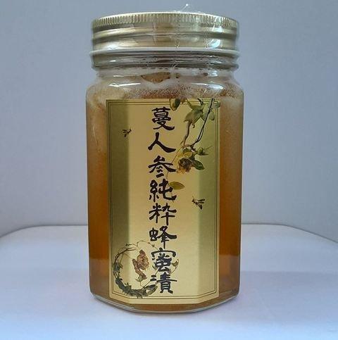 蔓人参純粋蜂蜜漬 大瓶表ラベル