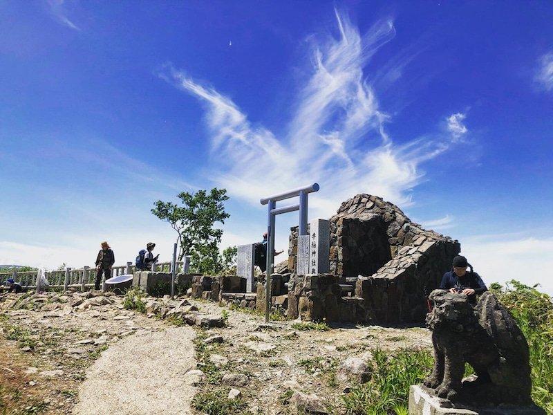 手稲山頂の龍雲