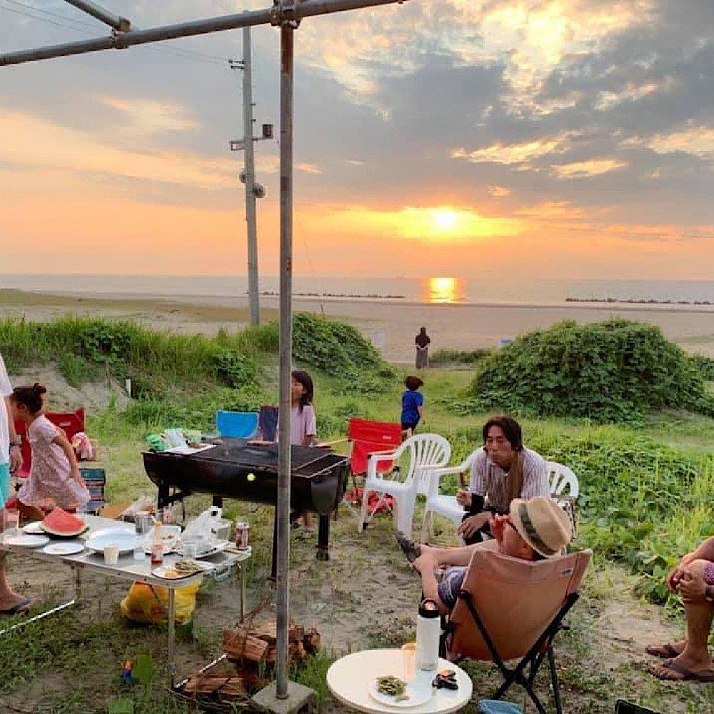 夏の夕日BBQ