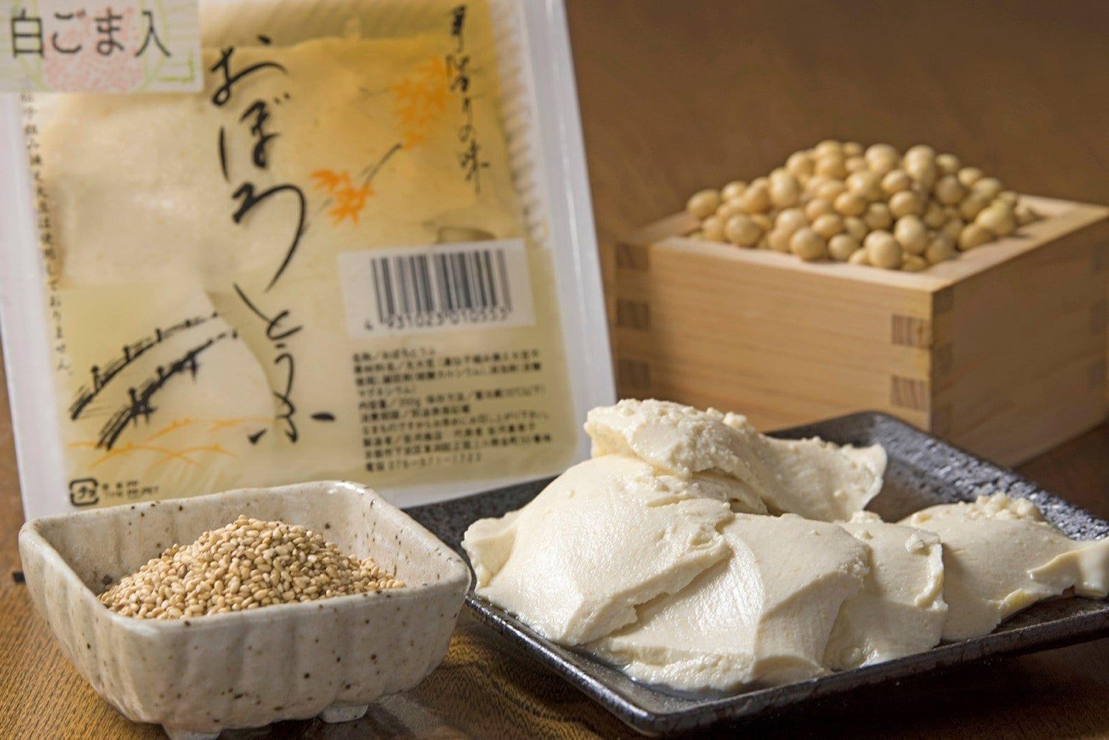 京都伝統の京とうふ|白ごま入りおぼろ豆腐