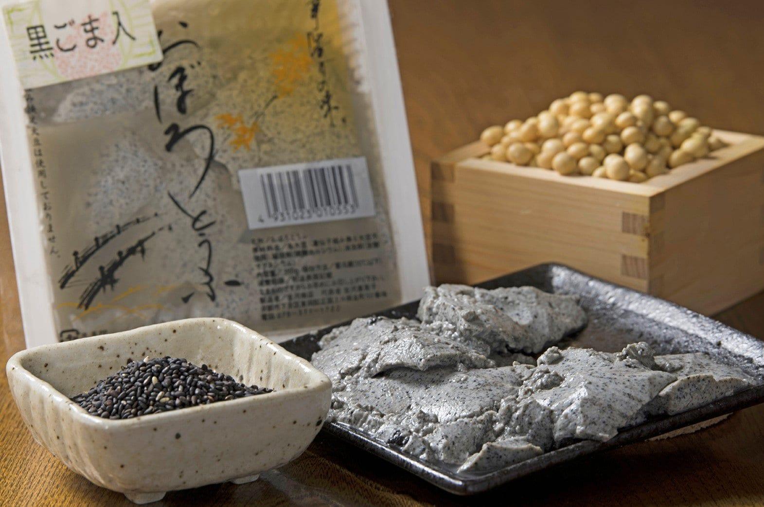 京都伝統の京とうふ|黒ごま入りおぼろ豆腐