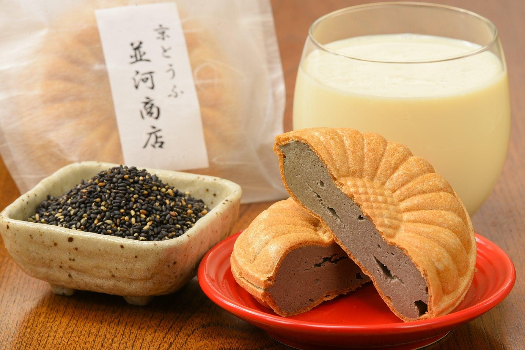 黒ごま入り豆腐アイス