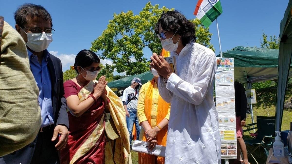 インド大使ご夫妻がタブラブースをご来訪くださいました!
